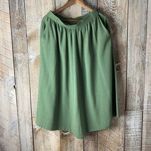 Alfred Dunner Green Midi Skirt With Pockets Sz 16W